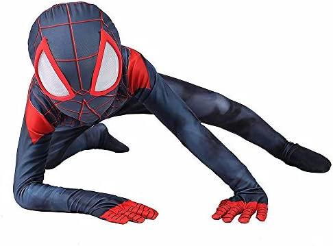 Traje De Cosplay De Spiderman Miles Morales Traje De Anime De ...