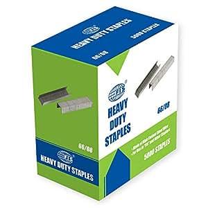 FIS Staple Pins Heavy Duty No.66/8 Size, 5000 Staples - FSSN6608N
