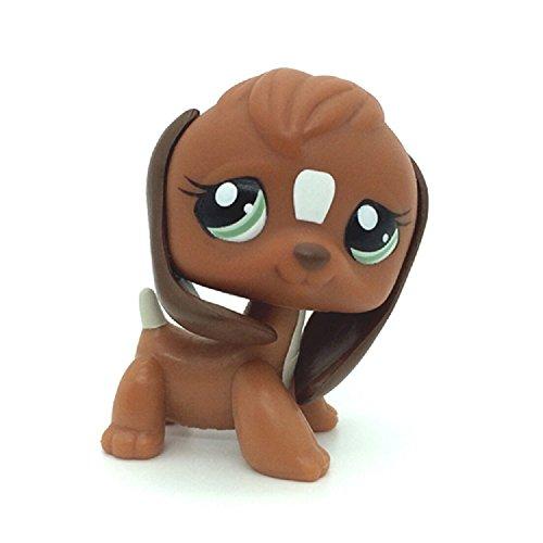 Littlest Pet Shop #1738 Brown & White Beagle Puppy Dog Green Eyes LPS Toy (Littlest Pet Shop Beagle Dog)