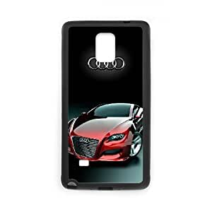 Back Skin Case Shell Samsung Galaxy Note 4 N9108 Cell Phone Case Black Audi Vhhaj Pattern Hard Case Cover
