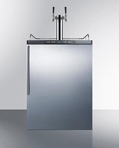 Summit SBC635MBISSHVTWIN Wine Dispenser, Stainless-Steel (Electric Refrigerator Summit)