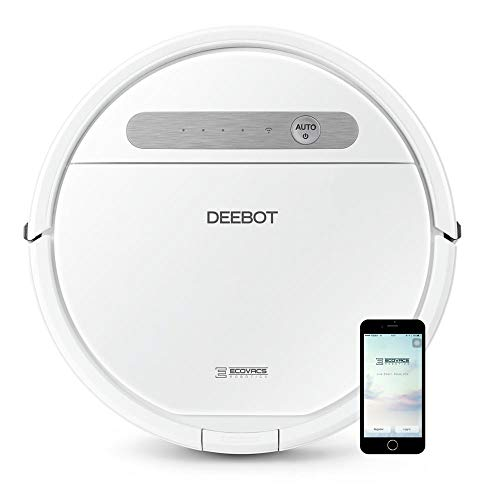 ECOVACS DEEBOT OZMO 610 Robotic Vacuum and MOP Cleaner, Upgraded, Carpets, Hardwood...