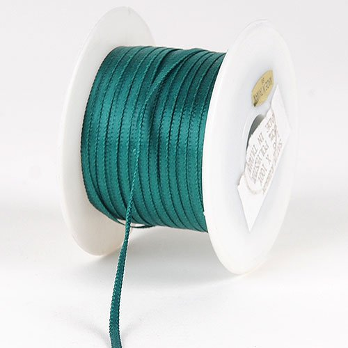 Jade Satin Ribbon 1/8 inch 100 Yards Jade Satin Ribbon
