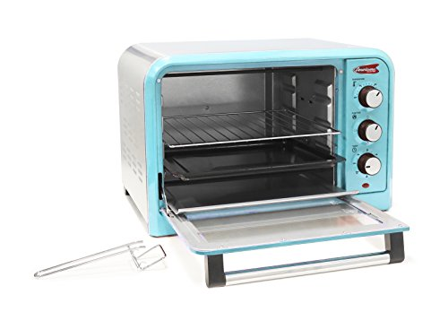 Americana-ERO-2600BL-Americana-Collection-Retro-6-Slice12-Pizza-Toaster-oven-Blue-Blue