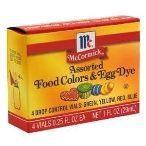 Amazon.com : McCormick Food Colors & Egg Dye, Four Assorted, 0.25 ...