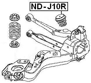 Febest - Nissan Rear Bumper Spring - Oem: 55240-Jd000