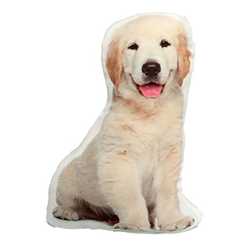 - KT Yellow Lab Labrador Retriever Puppy Stuffed Dog Throw Pillow Decor Gift