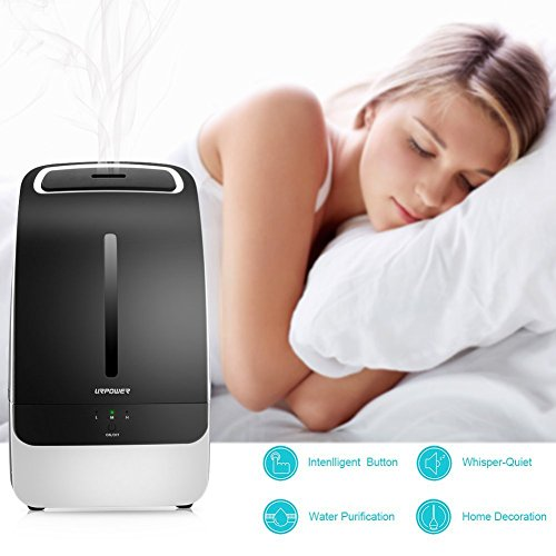 Large Product Image of URPOWER Humidifier, 5L Large Capacity Whisper-quiet Operation Cool Mist Ultrasonic Humidifier Waterless Auto Shut-off with Adjustable Mist Mode for Home Bedroom Babyroom Office