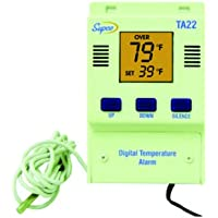 Supco TA22 Single Set Point Temperature Alarm with Digital Display, -40 to 160 Degrees F, 120 VAC
