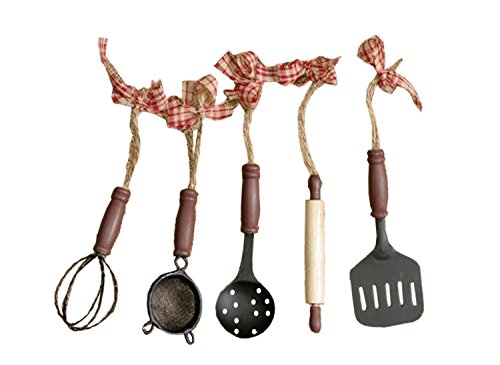Set of 5 Kitchen Utensil - Utensil Ornaments