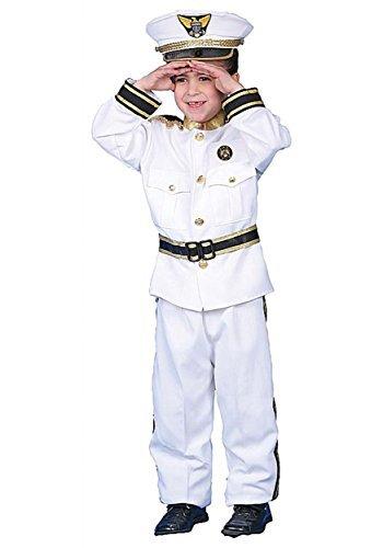 Navy Admiral Costume - Child Costume deluxe - Medium (8-10) by (Deluxe Kid's Navy Admiral Costumes)