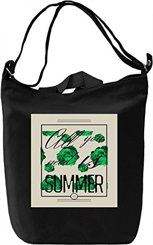 All you need is Summer Borsa Giornaliera Canvas Canvas Day Bag| 100% Premium Cotton Canvas| DTG Printing|