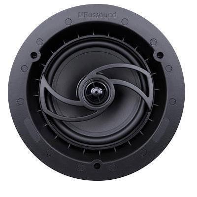 Russound RSF-610 6.5-Inch Acclaim Performance Speaker, Magnetic Edgeless Grille (Black) - Set of 2 Black Speaker Set