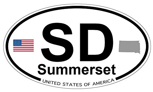 Summerset, South Dakota Oval Magnet (Summerset Refrigerator compare prices)