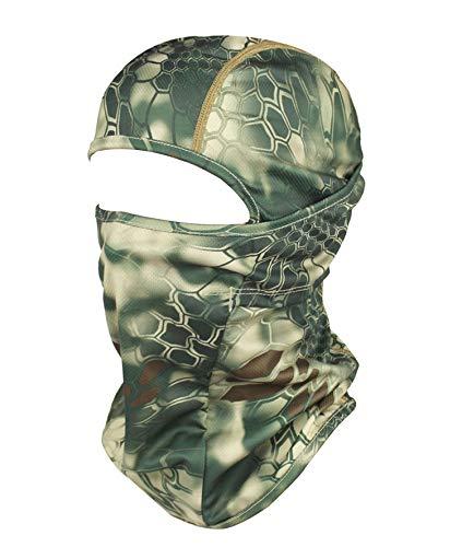 GANWAY Men Cap Tactic CS Equipment Cycling Mask Camouflage Headgear Ventilation Sunscreen Hat Ski Balaclava Face Masks (Green)