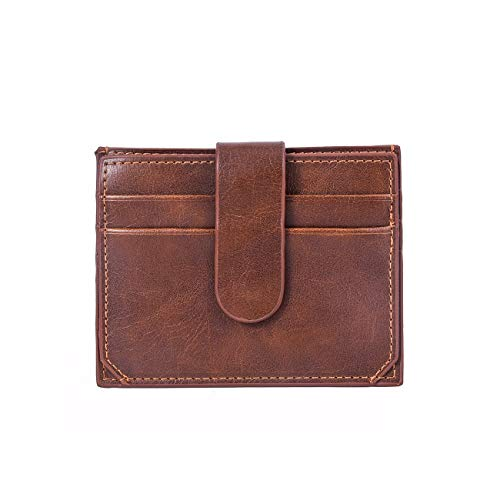 - TONGBOSHI Small Card Package, Short Paragraph, Wallet Bank Card Package, Ultra-Thin, Full Matt Leather, European and American Coin Purse. (Color : Dark Coffee)