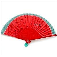 Cartoon sector Small fan summer Portable Folding fan lovely Japanese-style Folding Japanese women Cloth fabric fan watermelon