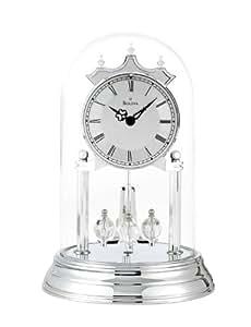Bulova B8819 Tristan II Clock, Chrome Finish