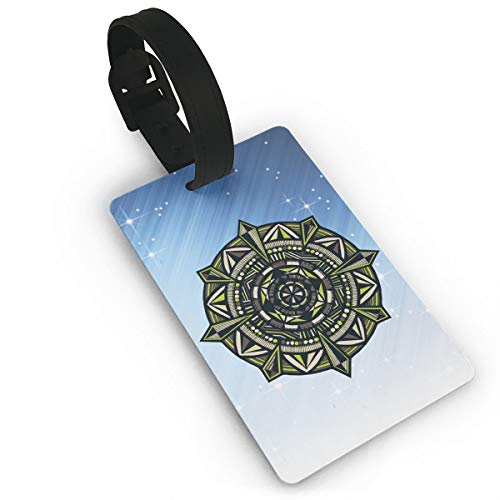 - Mini Luggage Tag Hollow Flower Mandala PVC Business Card Holder for Baggage Bag Name Address ID Label Travel Identifier Accessories
