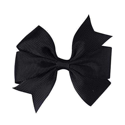 6 Pcs/Lot 3 Inch Solid Hairbow Grosgrain Ribbon Hair Bows Handmade Pinwheel Hair Clips For Children Hair Accessories 5