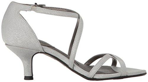 Lifestride Womens Flaunt Dress Sandalo Argento
