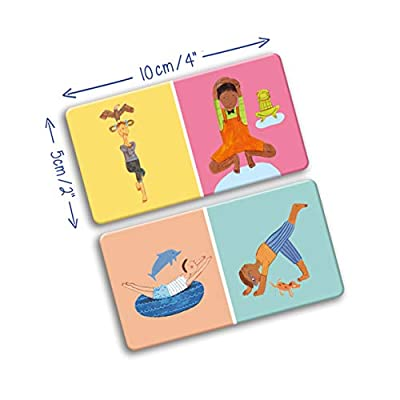 YOGi FUN Domino Yoga Cards with Balancing Yoga Poses gets Kids Focused and Centered: Toys & Games