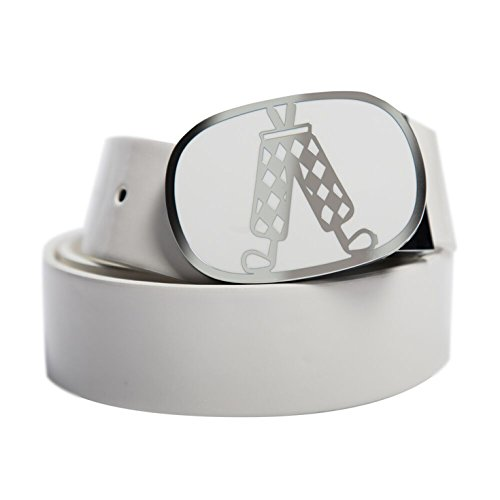 (Royal & Awesome Men's Golf Belt, White, One Size)