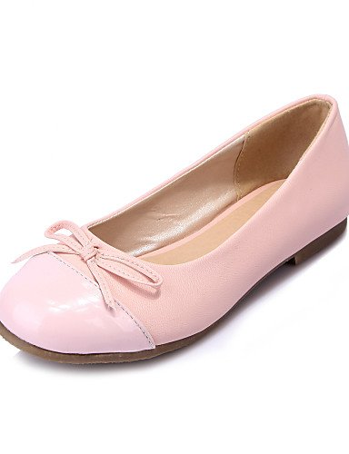 PDX/ Damenschuhe - Ballerinas - Lässig - Kunstleder - Flacher Absatz - Rundeschuh - Blau / Rosa / Weiß , white-us3.5 / eu33 / uk1.5 / cn32 , white-us3.5 / eu33 / uk1.5 / cn32