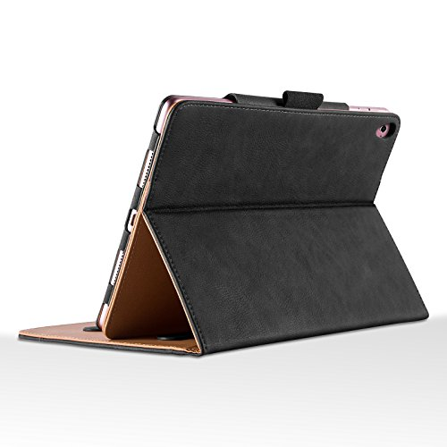 iPad Pro 9.7'' Case, JAMMYLIZARD The Original Black & Tan Leather Smart Cover by JAMMYLIZARD (Image #2)