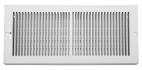 - Accord AB3BRWH146 Baseboard Grille with 1/3-Inch Fins Louvered Design, 14-Inch x 6-Inch(Duct Opening Measurements), White
