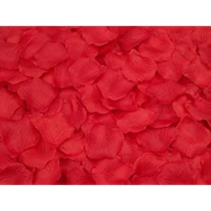 SlimACC New Arrival 2000pcs Colorful Silk Rose Petals Artificial Flower Bridal Shower Favors for Wedding Party Supplies Decoration (Red) 102