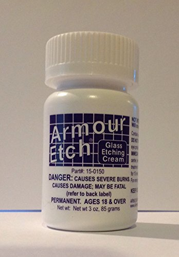 Armour Etching Cream For Glass and Mirrors Is Safe and Easy To (Etching Cream)