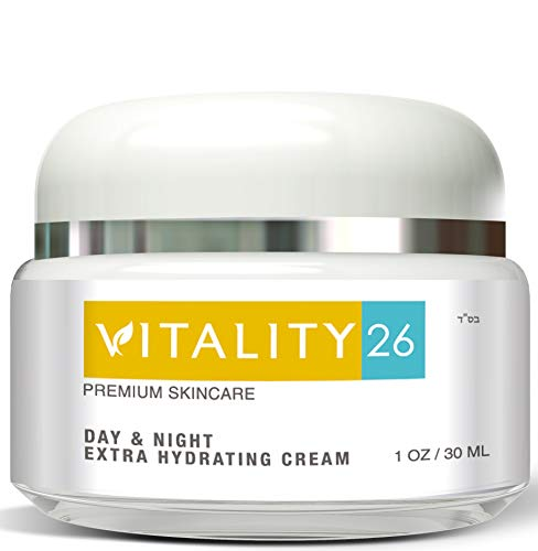 Vitality26 Anti Aging Face Cream - Deep Wrinkle Treatment - Made with Shea Butter, Avocado Oil and Wild Yam - Day and Night Moisturizer - Natural Ingredients - Made In (Cellular Wrinkle Treatment)