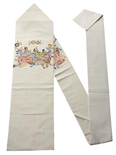 チャネル奇妙な経済リサイクル 名古屋帯 紬 隠れ蓑に桜と芍薬 正絹