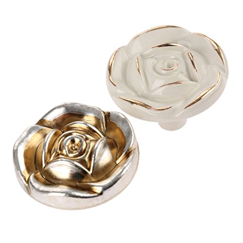 Choubao European Style Kitchen Furniture Cabinet Hardware Classic Rose Flower Shape Drawer Handle Pull Knobs - 10pcs by Choubao (Image #2)