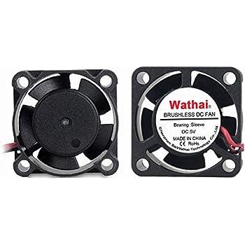 2Packs 25mm x 25mm x 10mm DC Brushless Cooler Cooling Fan 5V 2Pin