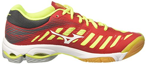 Mizuno Men's Wave Lightning Z4 Running Shoes Multicolor (Marsred/White/Safetyyellow 01) FeEgn0yu