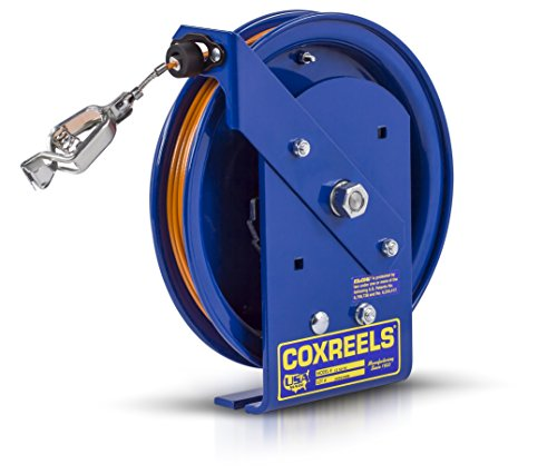 (Coxreels EZ-SD-50 Safety Series Spring Rewind Static Discharge Cord Reel: 50' Cord)