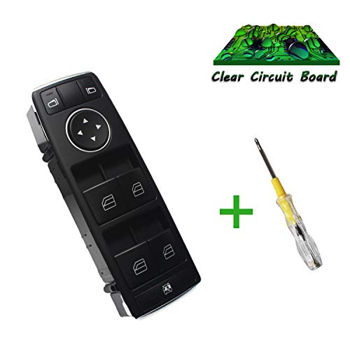 Beneges Master Power Window & Mirror Switch Compatible with 2008-2012 Mercedes-Benz W212 S212 C230 C250 C300 C350 C63 E350 E550 E250 Front Left Driver Side Switch ()