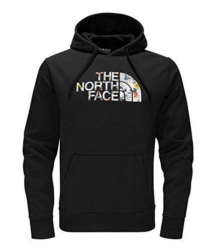 - The North Face Men's Half Dome Homestead Pullover Hoodie, TNF Black/TNF Black Sticker Bomb Print, Large
