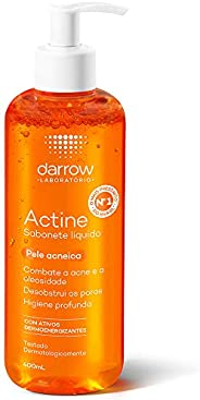 Actine Sabonete Líquido, pele oleosa a acneica, Darrow - 400ml, Darrow, 400Ml
