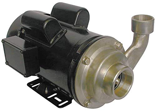 Dayton 316 Stainless Steel 2 HP Centrifugal Pump, 1 Phase, 115/230 Voltage - ()