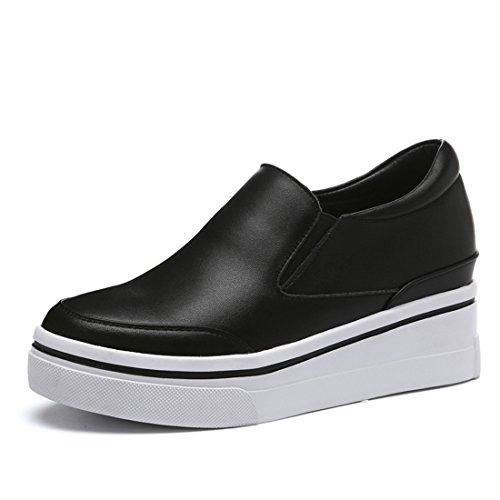 Klassieke Casual Loafers Voor Dames - Mocassins Met Zachte Slip Op Schoenen 6689 Zwart