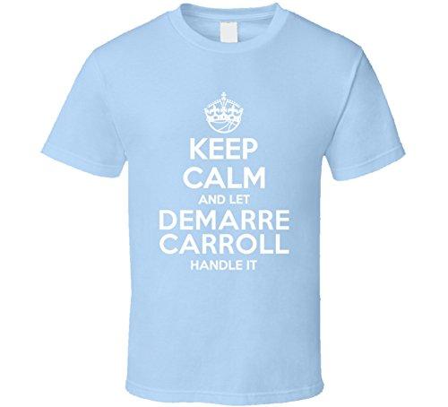 Demarre Carroll Keep Calm Let Player Handle It Denver Basketball T Shirt M Light Blue
