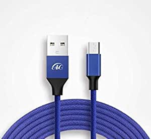 A & C cable for samsung fast charging blue color