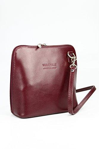 Vera Pelle sacs bandoulière femme Bordeaux rrfdwq8