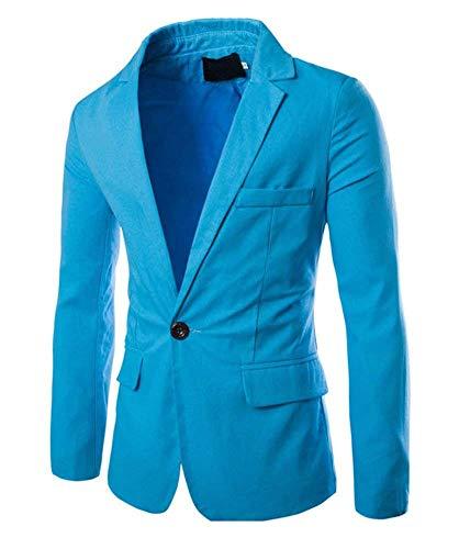 Business Classiques Blazer Les Hommes Himmelblau Suit FxWOPqH