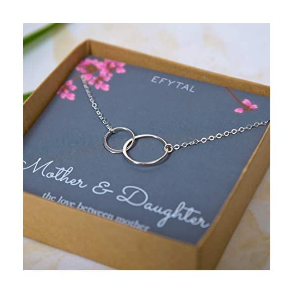 EFYTAL-Mother-Daughter-Necklace-Sterling-Silver-Two-Interlocking-Infinity-Double-Circles-Mothers-Day-Jewelry-Birthday-Gift