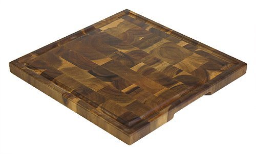 Mountain Woods EGA14 14″ Acacia End Grain Square Cutting Board with Juice Groove, 14 X 14 X 1 41qCEIdai0L