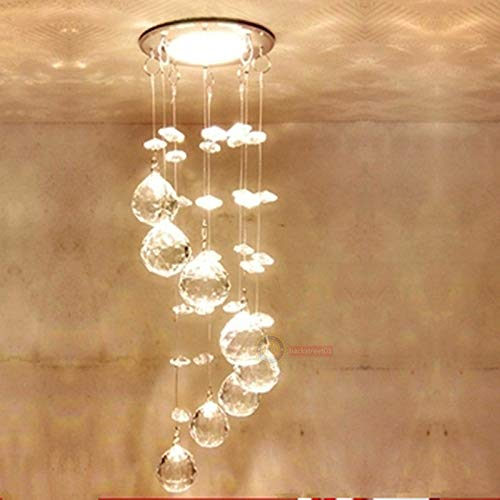 FidgetKute 3W LED Crystal Ceiling Light Small Chandelier Lamp Pendant Fixture Hallway Decor Warm White Surface Mount by FidgetKute (Image #5)